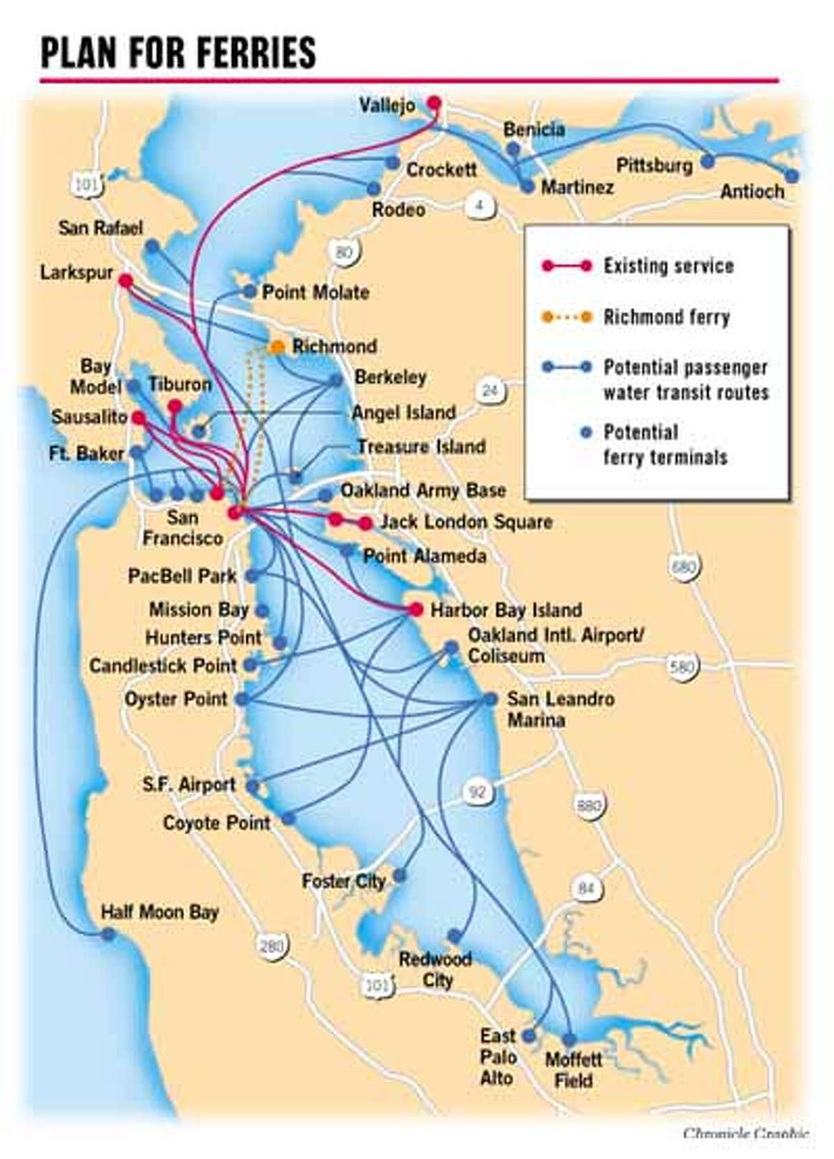 Plan for ferries. Chronicle Graphic