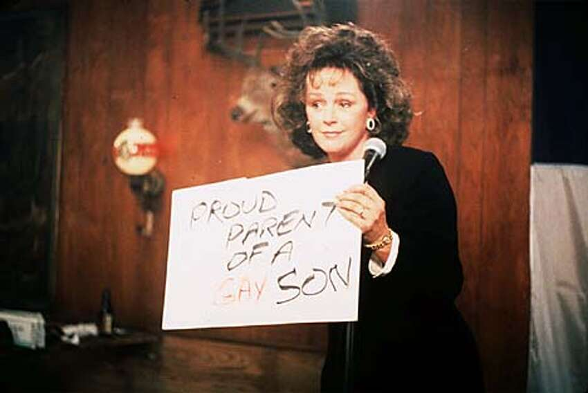 Bonnie Bedelia warms to the idea of having a gay son in