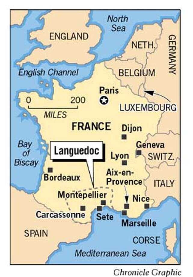Languedoc, France. Chronicle Graphic