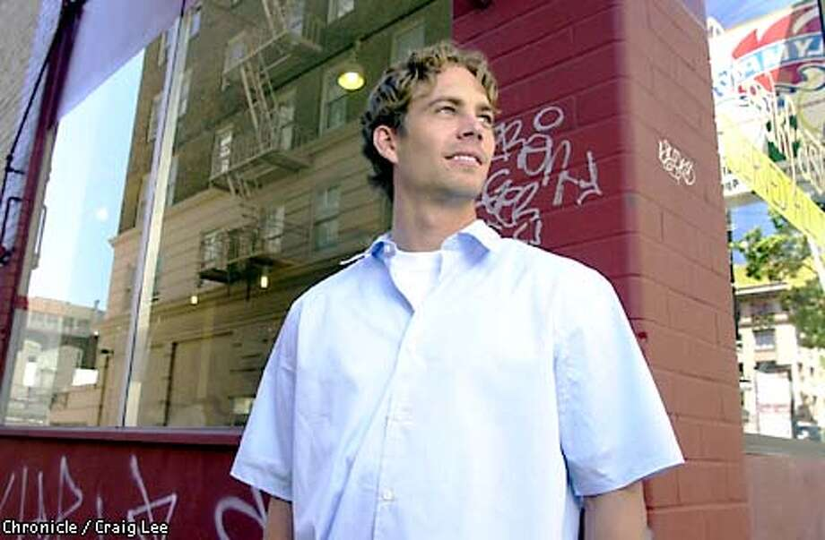 """Photo of actor Paul Walker, star of """"The Skulls"""" and the soon-to-be-released """"The Fast and the Furious.""""  Photo by Craig Lee/San Francisco Chronicle Photo: CRAIG LEE"""