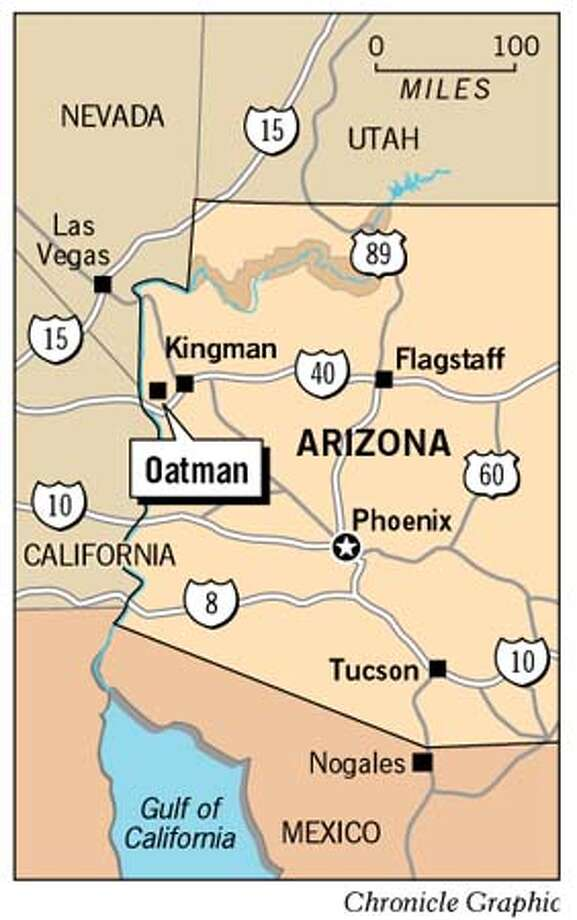 Map Of Oatman Arizona.Arizona Ghost Town Is So Wild West It S Spooky Route 66 Outpost
