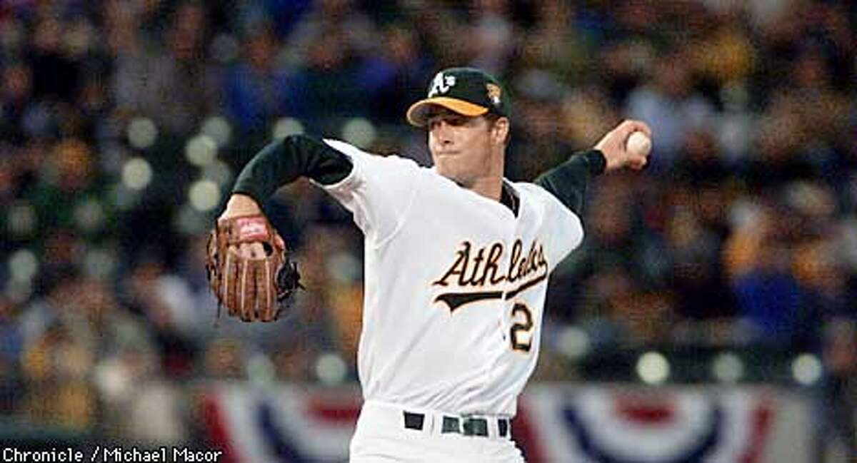 A's starting pitcher Mark Mulder. Home opener for the Oakland Athletics. by Michael Macor/the Chronicle