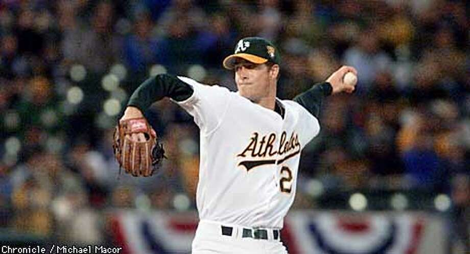 A's starting pitcher Mark Mulder. Home opener for the Oakland Athletics. by Michael Macor/the Chronicle Photo: MICHAEL MACOR