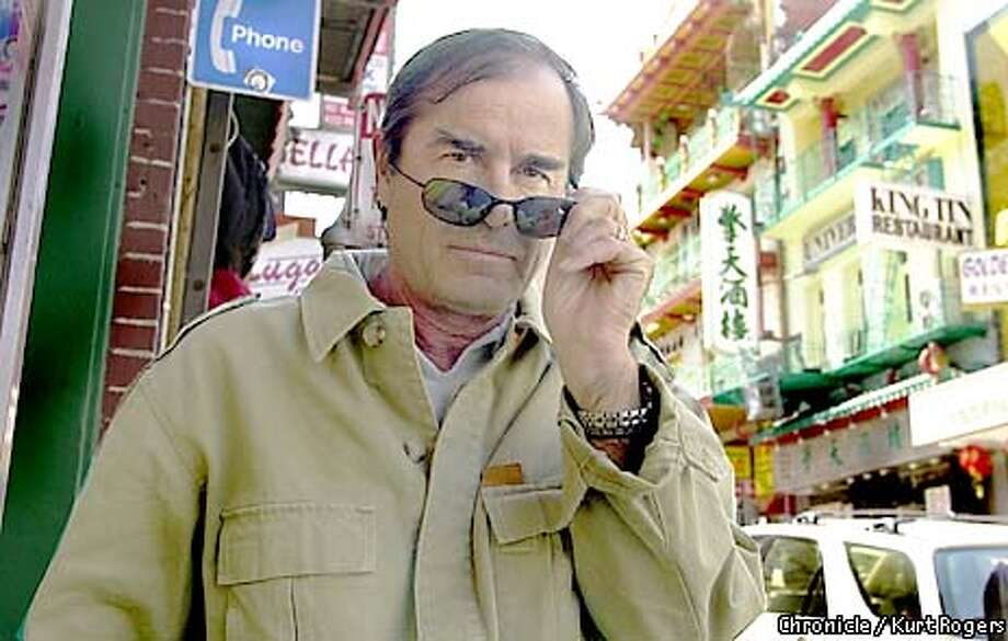 Travel writer Paul Theroux on a book tour for his new Novel set in Hawaii.. the photo was taken in China town.Photo By Kurt Rogers Photo: KURT ROGERS