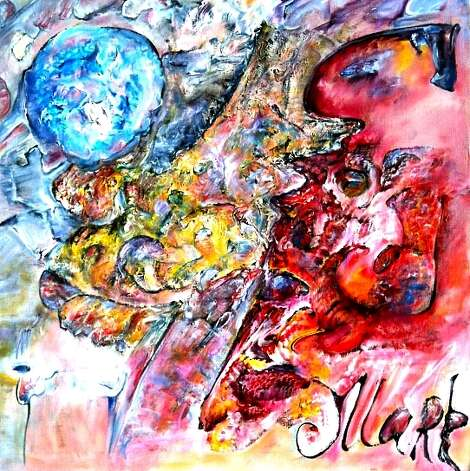 """Howl"" is an older, more figurative work by violinist/painter Mark Cheikhet. Photo: Gallery Nord, Courtesy"