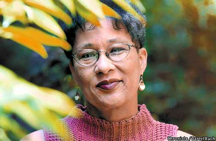 "Lalita Tademy of Menlo Park author of ""Cane River"" outside her home in Menlo Park. Chronicle Photo by Darryl Bush Photo: Darryl Bush"