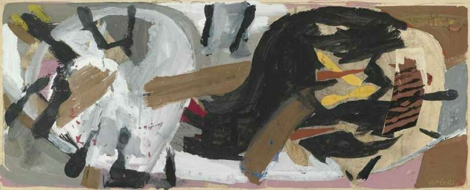 Wide to the Wind, 1952 Gouache and collage on paper 10 x 24 inches Collection of Thomas and Darlene Furst Photograph by John Schweikert