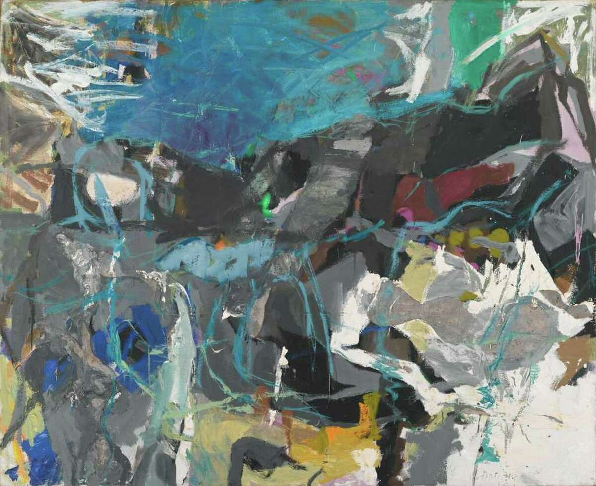 Summer I, 1958-59 Oil and collage on canvas 57 x 70 inches Collection of Jeanne Nielsen Photograph by John Schweikert