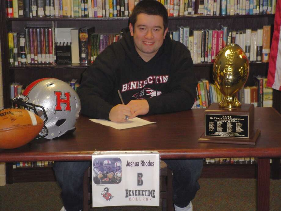 Josh Rhodes,  Huffman-Hargrave High School, will play linebacker at Benedictine College.