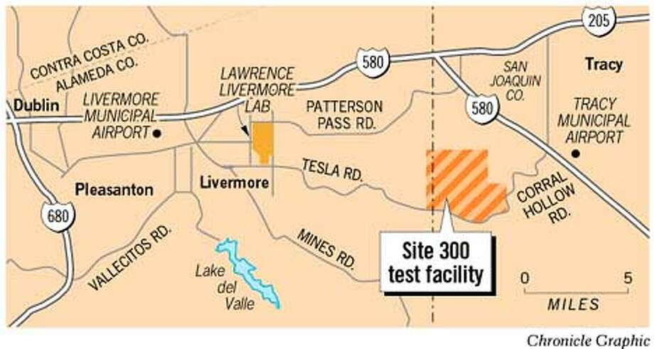 Site 300 Test Facility. Chronicle Graphic
