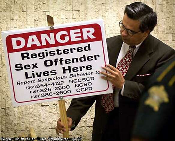 ... 21 registered sex offenders to place in their yards in Corpus Christi, ...
