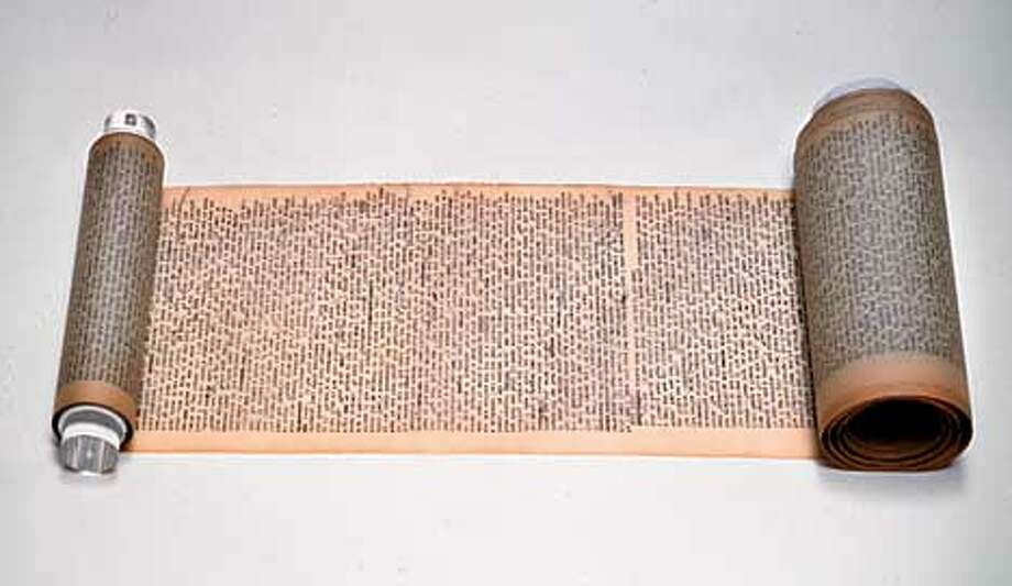 My colleague in the bookdepartment forwarded your photo request to me. Please find attached a jpeg of the Kerouac scroll that will be auctioned on May 22. For more info, please do not hesitate to contact me on 212 636 2680 -- Christie's PR department.
