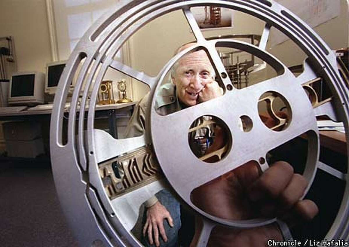 Stewart Brand, author of ``The Clock of the Long Now,'' plans to build the world's largest mechanical clock, which will chime once a century. Chronicle Photo by Liz Hafalia