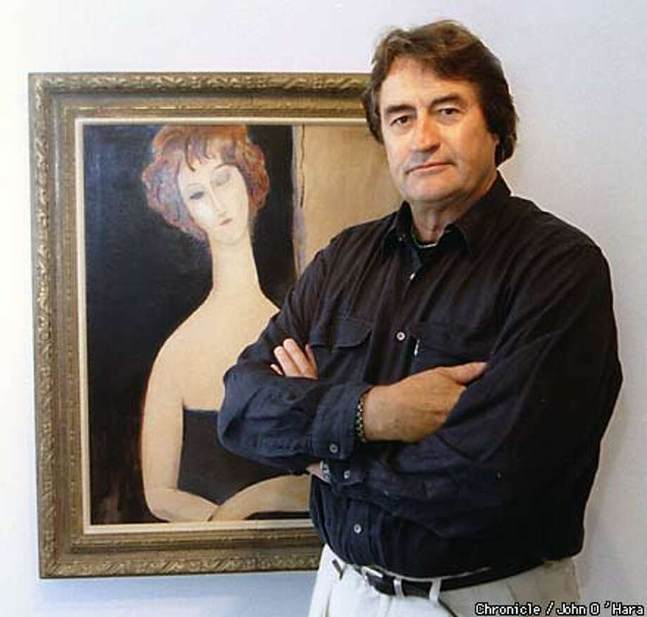 John Pyle owns a number of Elmyr de Hory's fakes, including this forged Modigliani. Chronicle Photo by John O'Hara