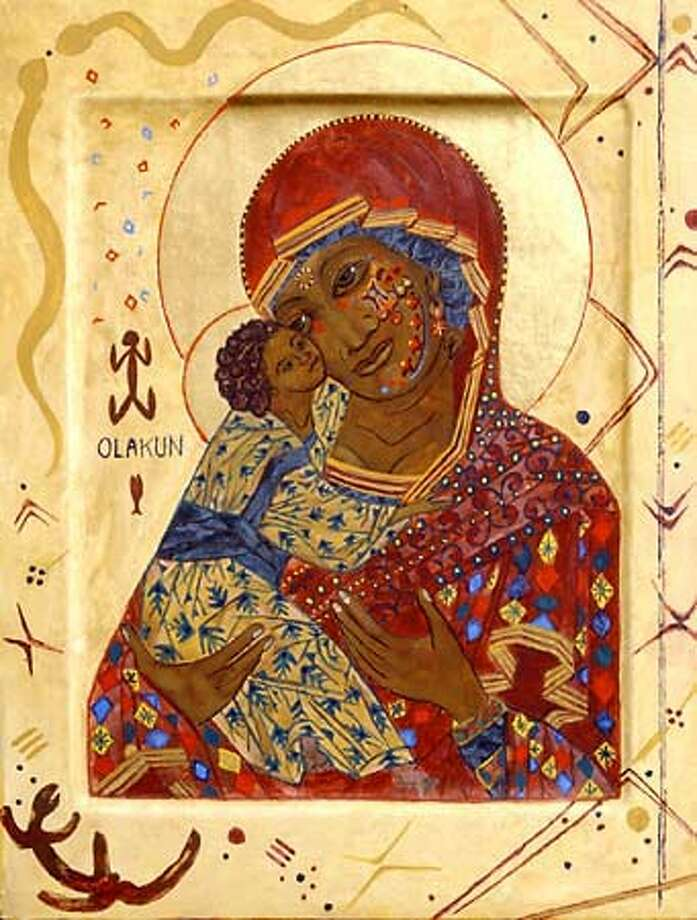 Byzantine African Madonna and Child.