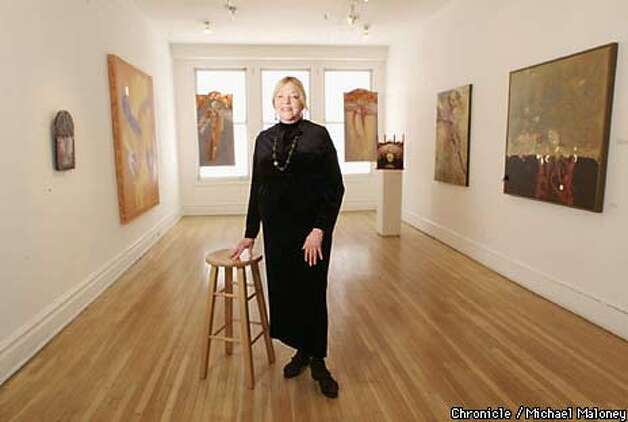 Meridian owner Anne Brodzky developed the gallery to specialize in the work of multicultural artists. Chronicle Photo by Michael Maloney