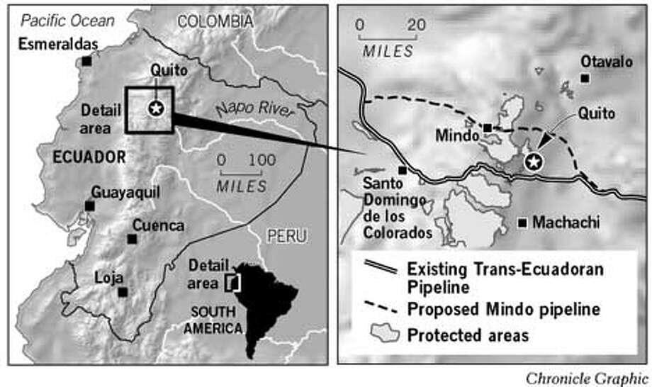Ecuador Pipeline. Chronicle Graphic