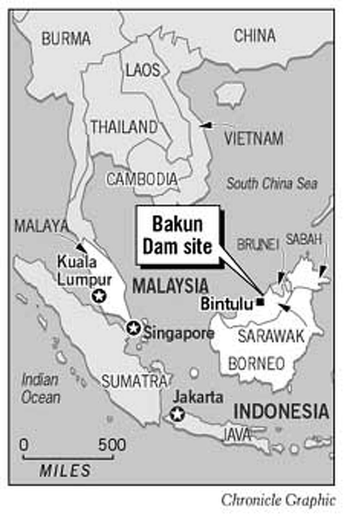 Bakun Dam Site. Chronicle Graphic