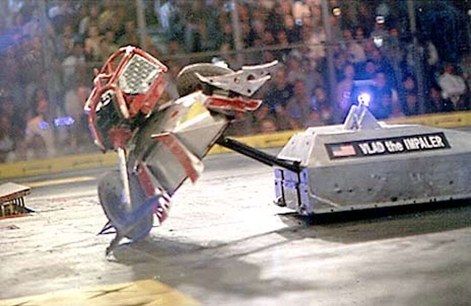 Creating a monster / 'Battlebots' tears its way into Bay