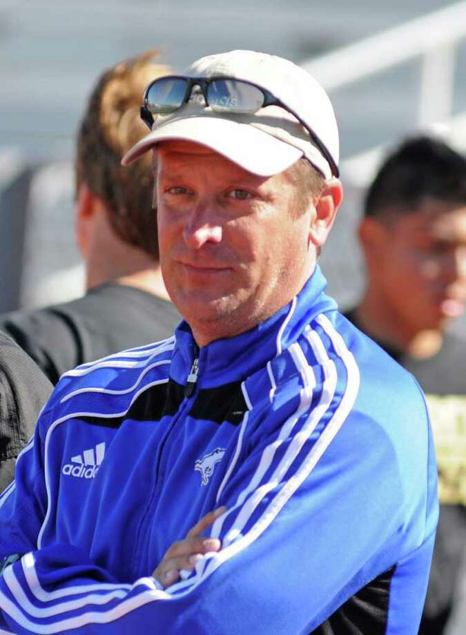 Friendswood boys soccer coach Stephen Peter was happy his team was able to get the victory. Photo: L. Scott Hainline / For The Chronicle