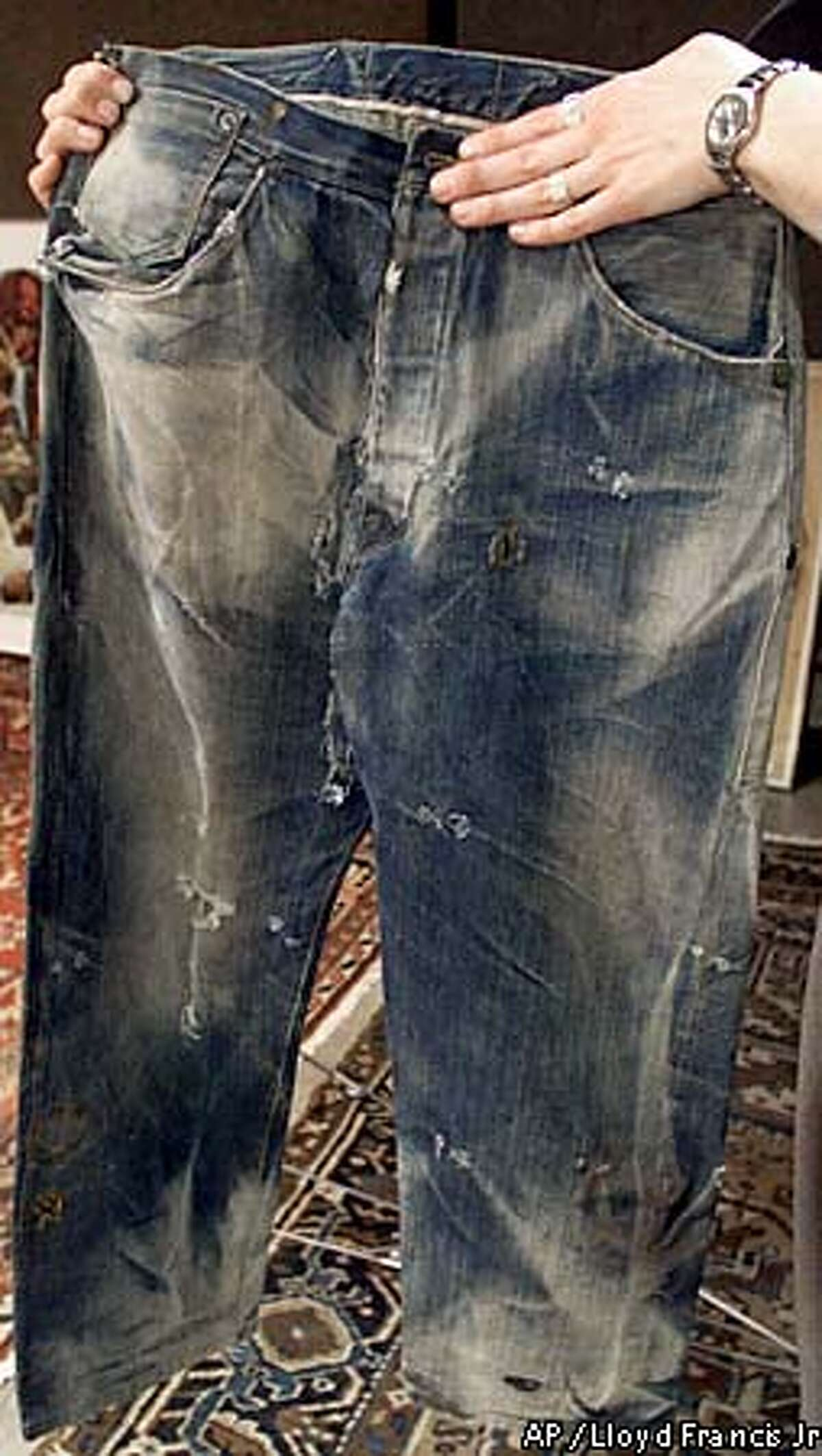 These Levi's found in Nevada may be the world's oldest. Associated Press photo by Lloyd Francis Jr
