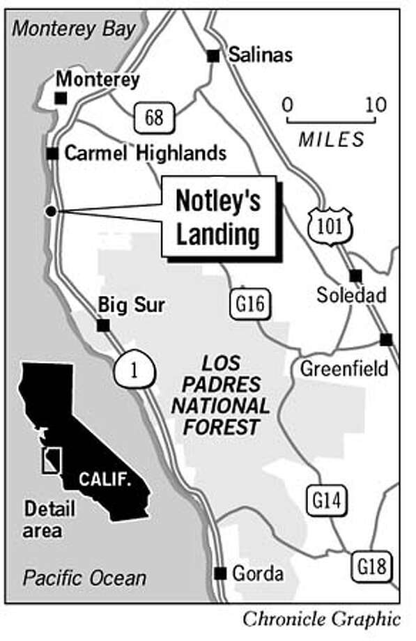 Notley's Landing. Chronicle Graphic