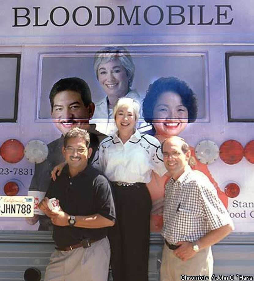 The Stanford Bloodmobile. Chronicle Photo by John O'Hara