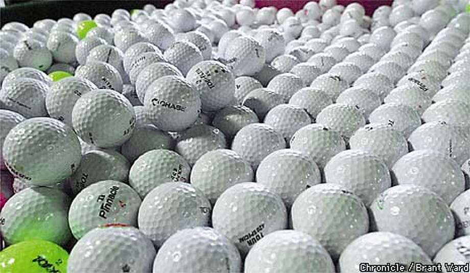 Golf ballsFound in Greenwich Photo: BRANT WARD