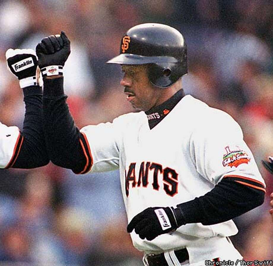 10. 1998 Giants: Ellis Burks, Jose Mesa, Shawon Dunston, Joe Carter Photo: THOR SWIFT