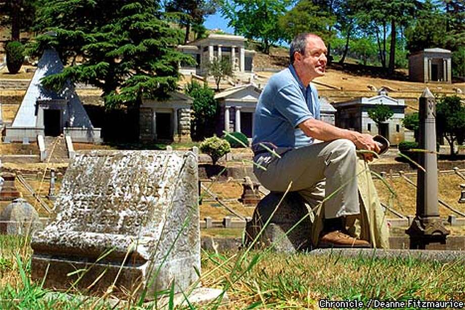 Witold Rybczynski rests while walking through Mountain View Cemetary in Oakland. He is the author of a book about Frederick Law Olmstead who designed this cemetary in addition to designing Central Park in New York City. CHRONICLE PHOTO BY DEANNE FITZMAURICE Photo: DEANNE FITZMAURICE