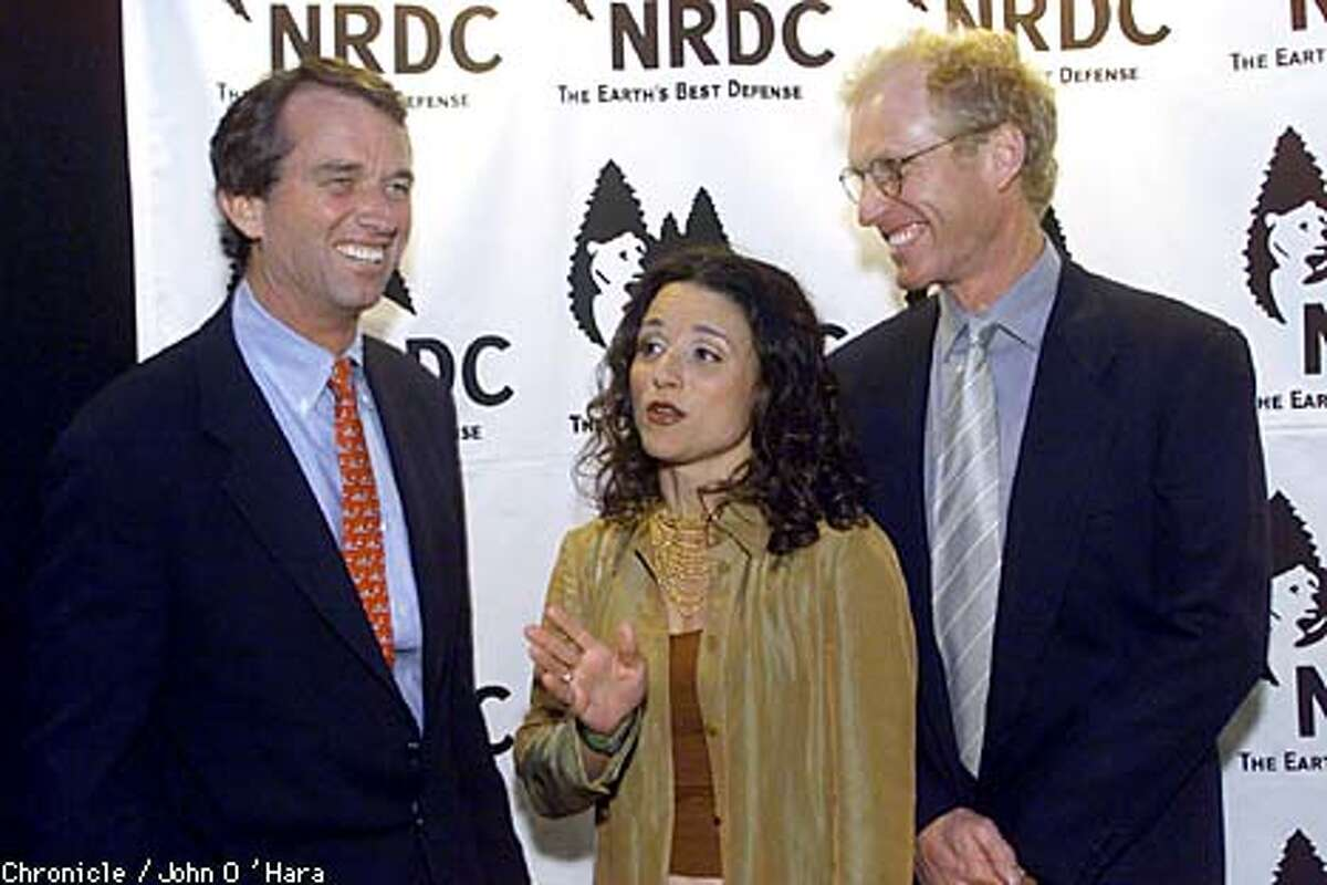 Robert F. Kennedy Jr., left, Julia Louis-Dreyfus and her husband, Brad Hall, attended the premiere of the IMAX film
