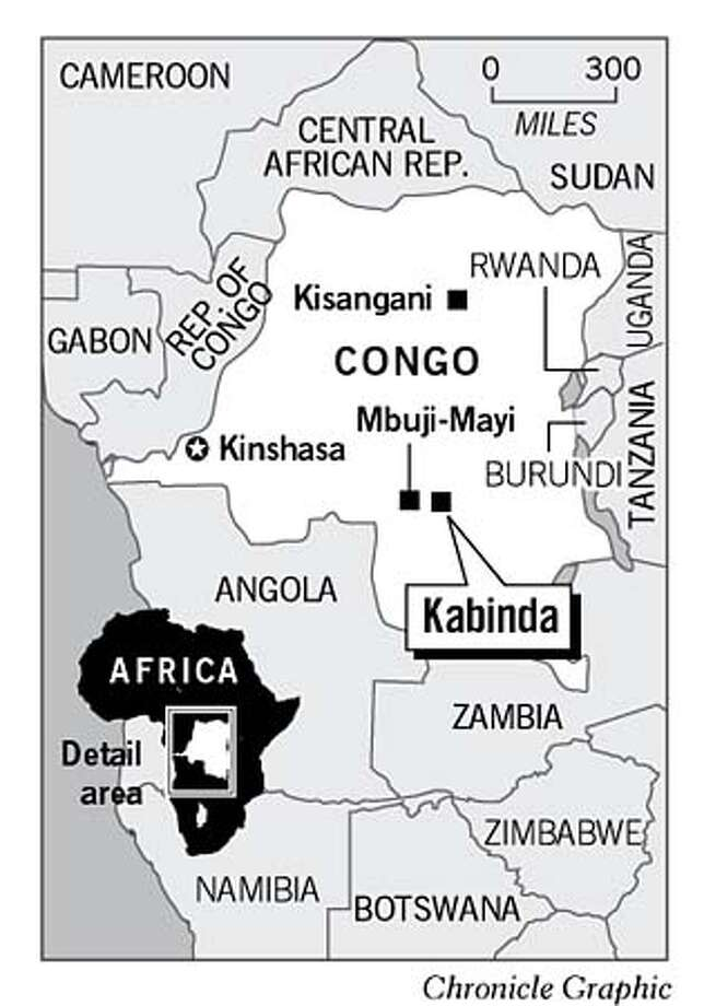 Congo Map. Chronicle Graphic