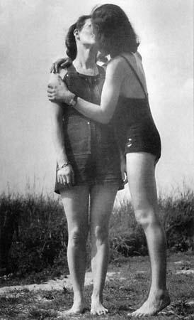 Vintage negro sobre el sexo blanco
