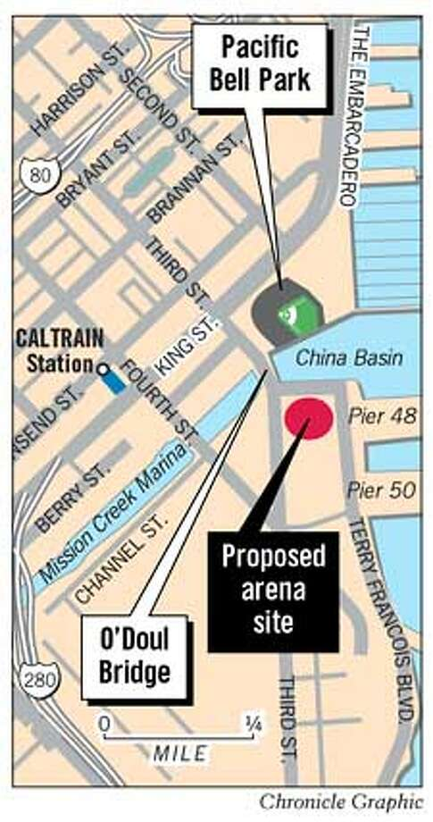Proposed Arena Site. Chronicle Graphic