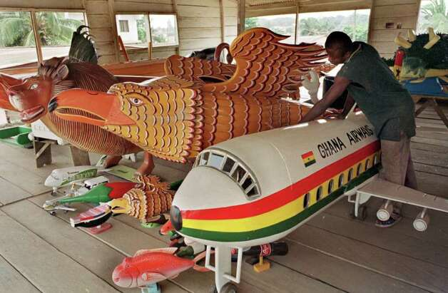Ghana Airways collapsed under debt and safety issues in 2005. This is a Ghana Airways coffin, which may be morbidly fitting. Photo: ISSOUF SANOGO, AFP/Getty Images / AFP