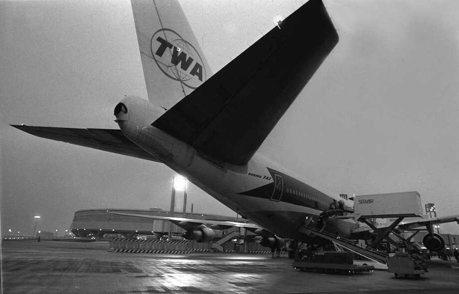 A TWA Boeing 747 made the first international flight landing at the new Paris Roissy Charles de Gaulle Airport, on March 13, 1974. Photo: STAFF, AFP/Getty Images / AFP