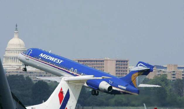Republic Airways Holdings acquired Midwest Airlines and Frontier Airlines in 2009 and merged the two under the Frontier name. Photo: PAUL J.RICHARDS, AFP/Getty Images / 2005 AFP