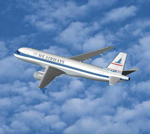 After the US Airways-America West merger, the new company unveiled a series of planes decorated with the themes of previous merger partners. Here's one commemorating Piedmont Airlines. Photo: Handout, Getty Images / 2005 Getty Images