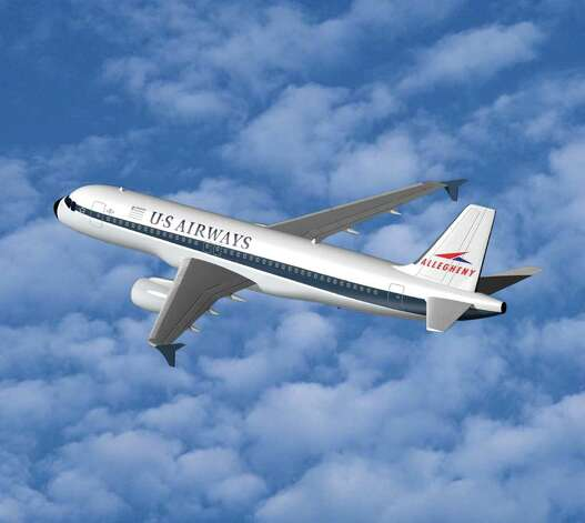After the US Airways-America West merger, the new company unveiled a  series of planes decorated with the themes of previous merger partners.  Here's one commemorating Allegheny Airlines. Photo: Getty Images / 2005 Getty Images