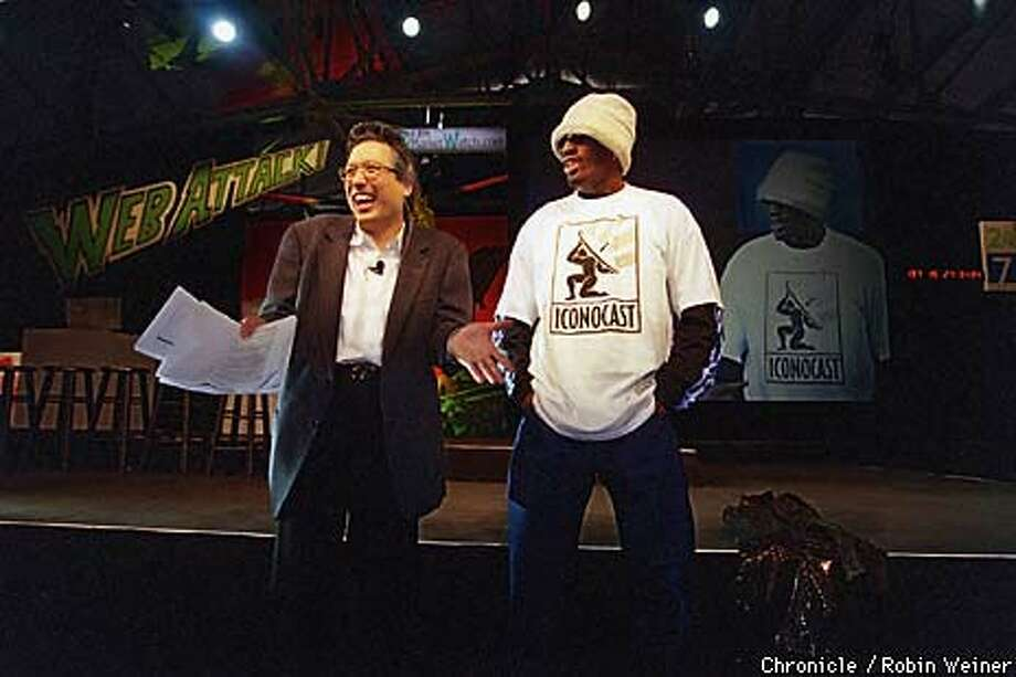 To make his Web Attack event more interesting, Michael Tchong recruited Dennis Rodman. Chronicle Photo by Robin Weiner