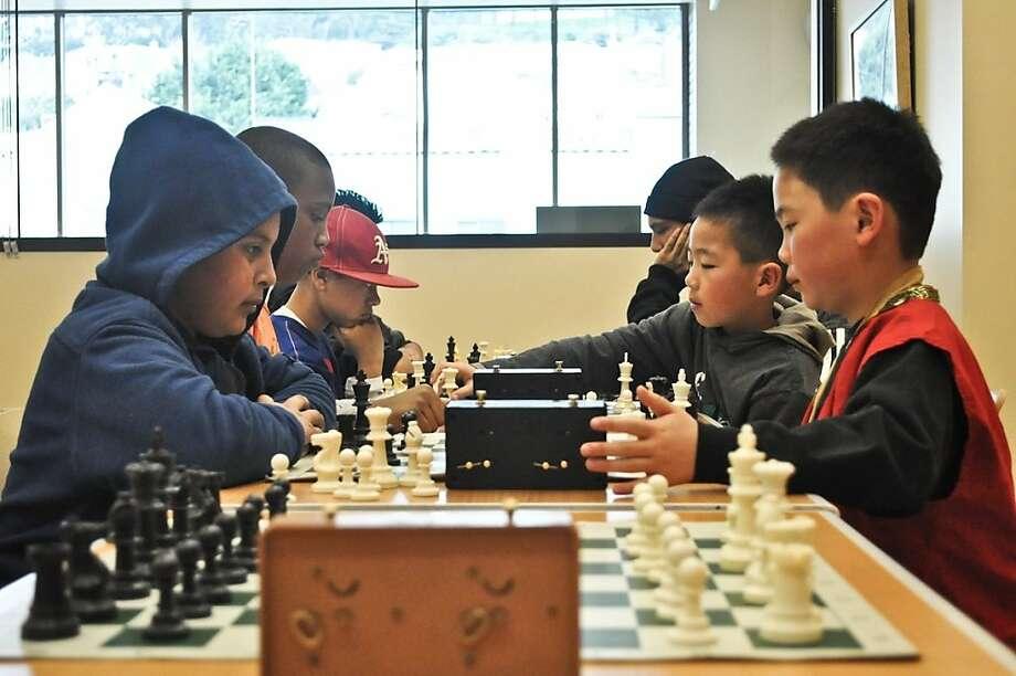Participants in the Bright Knights Chess Club Photo: Chris Flores
