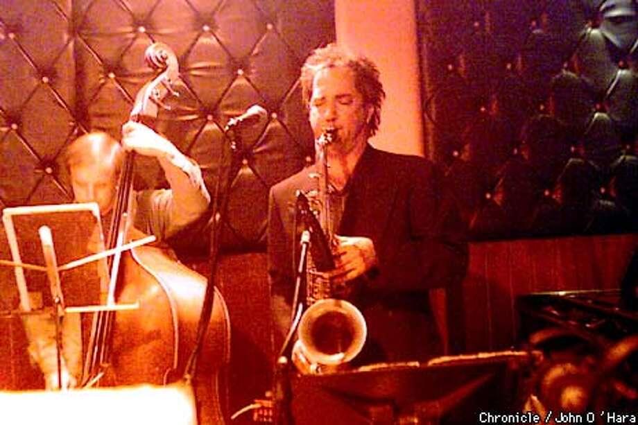 Former Berkeleyan Peter Apfelbaum (on saxophone) led his band, including bassist John Shifflett, at Bruno's Cork Club. Chronicle photo by John O'Hara