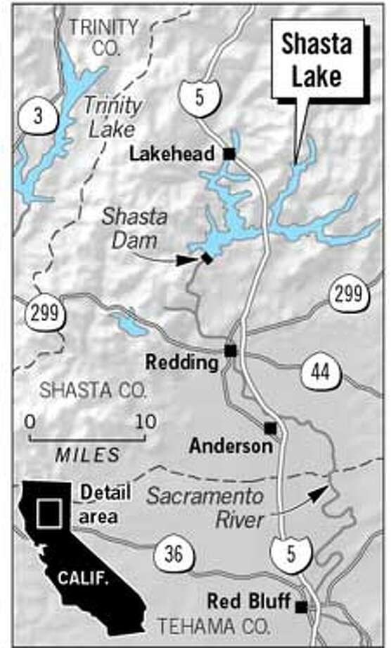 Shasta Lake. Chronicle Graphic