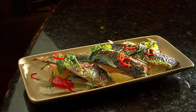 The Grilled Local Sardines at Txoko Restaurant in San Francisco, Calif., is seen on Wednesday, January 25th, 2012. Photo: John Storey
