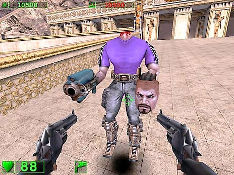 Blood flows freely and characters lose their heads in games like Serious Sam.