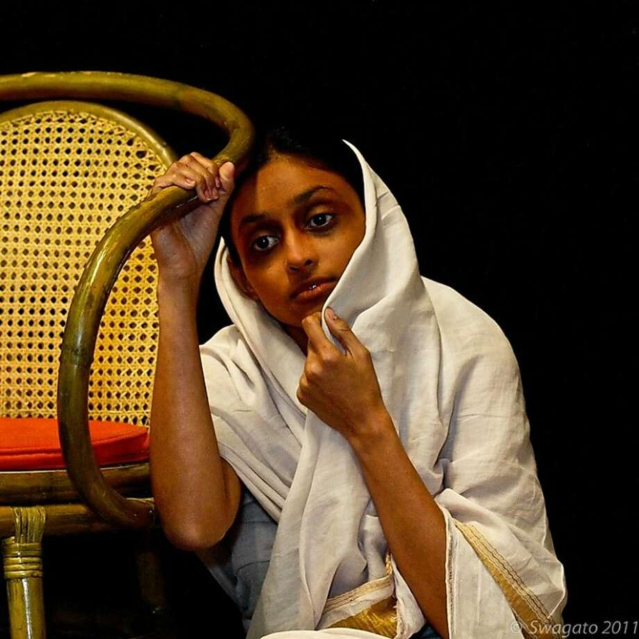 """Shruti Bhavsar in """"Khamla,"""" Vijay Tendulkar's tale, based on a true story, of an ambitious journalist who makes a career-building story of his purchase of a young woman in a flesh market. Photo: Swagato Basumallick"""