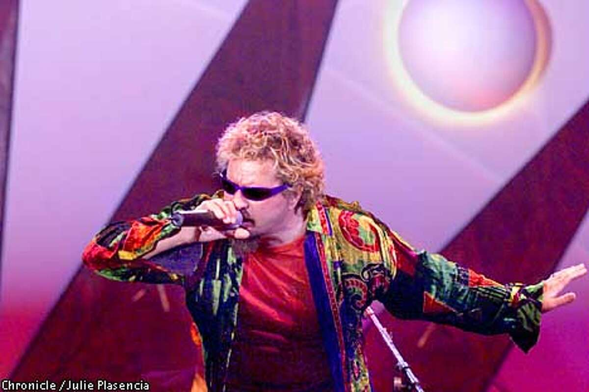 Sammy Hagar sings the blues with Little Feet at the Bammy Awards at Kaiser Civic Auditorim in Oakland. (JULIE PLASENCIA/SAN FRANCISCO CHRONICLE)