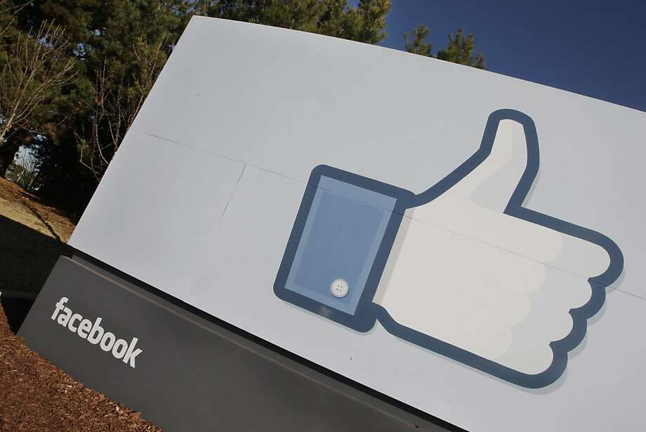 The Facebook logo is displayed outside of Facebook's new headquarters in Menlo Park, Calif., Thursday, Jan. 12, 2012. What's good for Facebook and its employees could be very good for California's treasury. If Facebook goes public this year, as many have speculated, the state stands to reap hundreds of millions of dollars in capital gains taxes from Facebook investors and employees profiting from stock sales. That could bring a much-needed windfall to a state government facing a $9.2 billion deficit.  (AP Photo/Paul Sakuma) Photo: Paul Sakuma, Associated Press