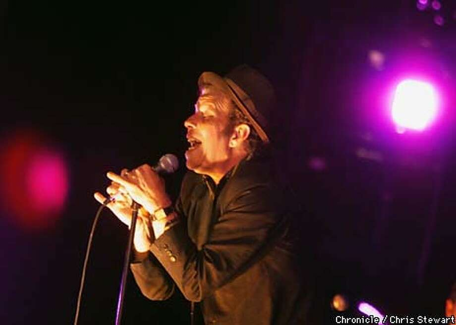 Tom Waits brought his parade of weird characters to Oakland., (2) Tom Waits sang to a sold-out, adoring Paramount Theatre crowd in Oakland on Wednesday and last night Chronicle Photo by Chris Stewart