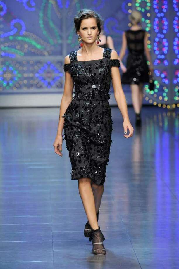 SHOW STOPPER: Dolce & Gabbana created this sexy black dress for spring. Photo: Dolce & Gabbana